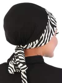 Black - Lace up - Cotton - Bonnet