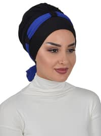 Black - Saxe - Plain - Cotton - Chiffon - Bonnet