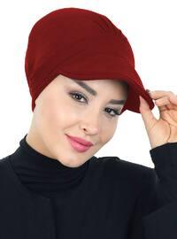 Maroon - Plain - Cotton - Bonnet
