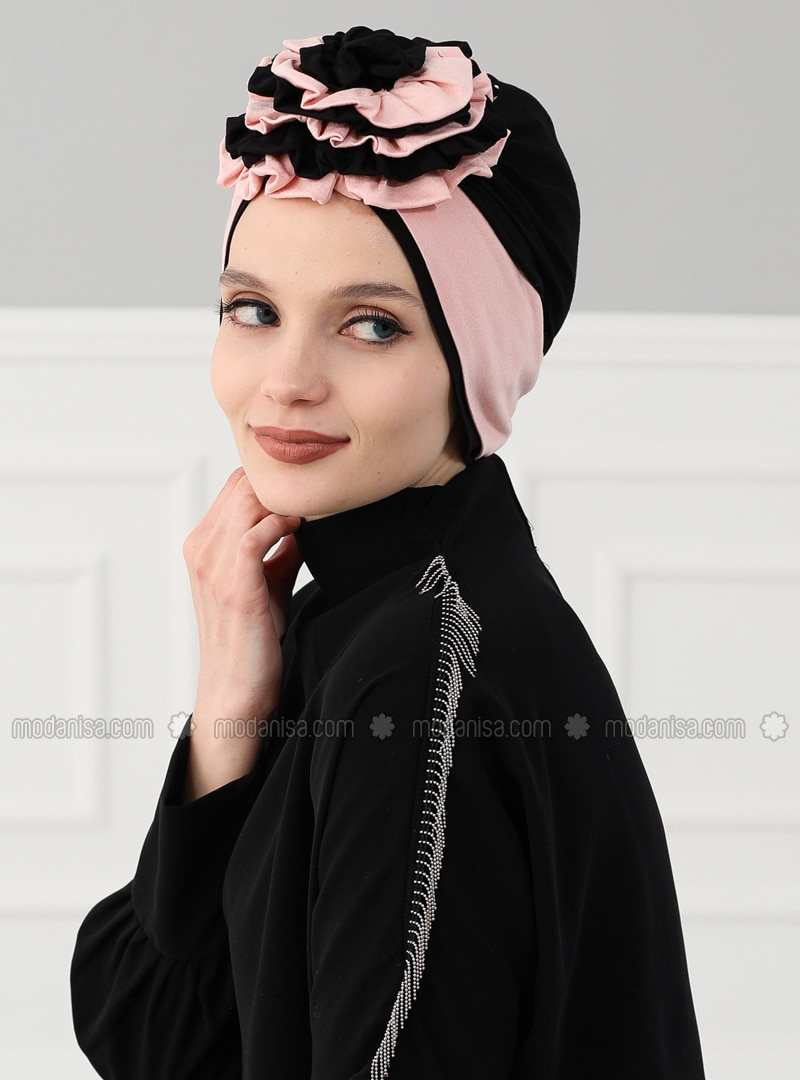 Black - Powder - Plain - Cotton - Bonnet