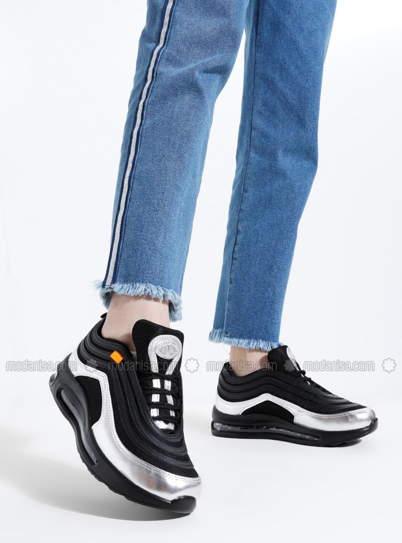 Black - Silver tone - Sport - Sports Shoes