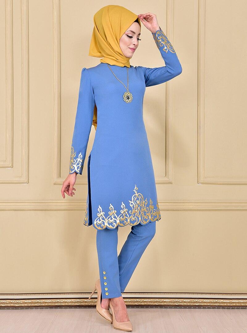 Evening Suit AYŞE MELEK TASARIM Blue