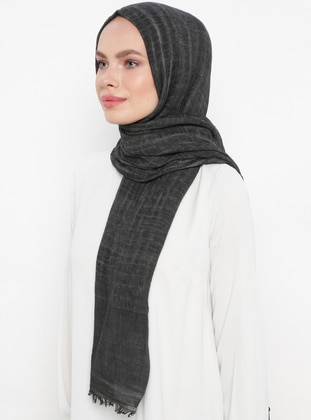 Smoke - Plain - Cotton - Shawl