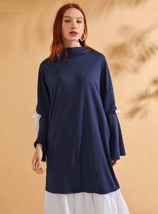 Viscose - Navy Blue - Sweat-shirt