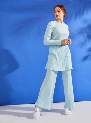 Mint - Unlined - Cotton - Suit
