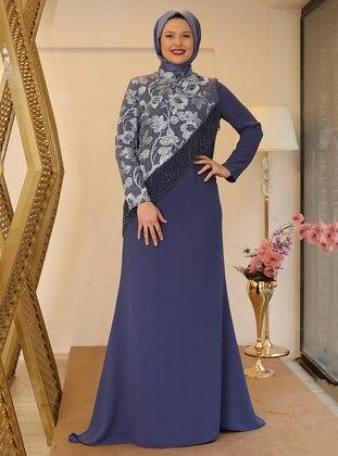 Indigo - Fully Lined - Muslim Evening Dress