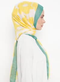 Yellow - Floral - Shawl