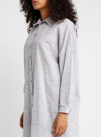 Plum - Point Collar - Cotton - Tunic