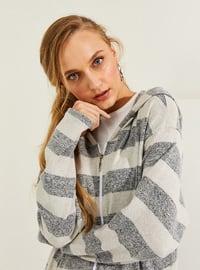 Gray - Stripe - Abaya