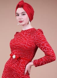 Red - Muslim Evening Dress