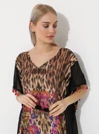 Leopard - Black - Pareo