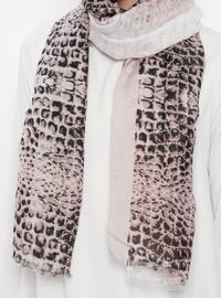 Gray - Leopard - Shawl