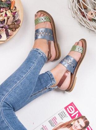 Green - Blue - Sandal - Sandal