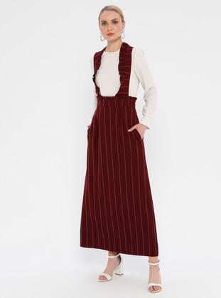 Maroon - Stripe - Skirt