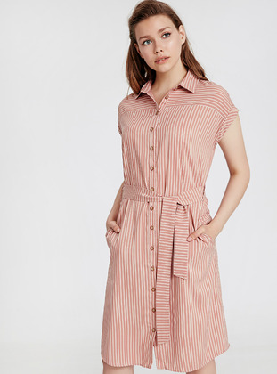 Stripe - Pink - Dress