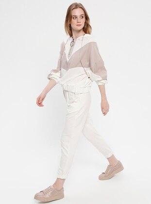 White - Ecru - Unlined - Suit