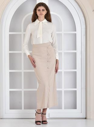Camel - Fully Lined - Skirt