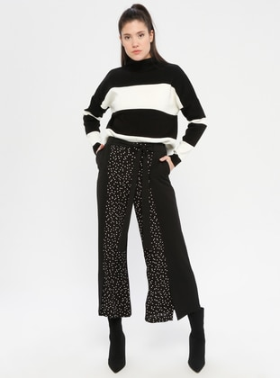 Black - Polka Dot - Pants