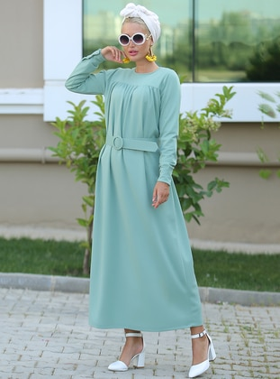 Mint - Crew neck - Unlined - Dress