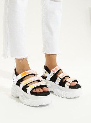 Black - Yellow - High Heel - Sandal - Sandal