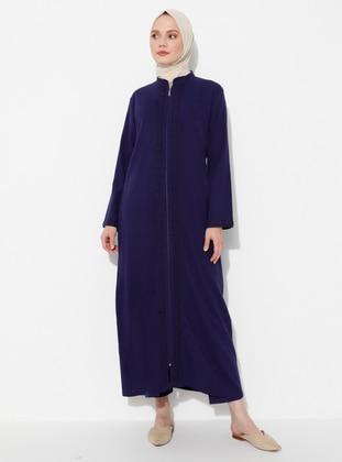 Purple - Unlined - Crew neck -  - Abaya