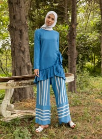Blue - Stripe - Pants