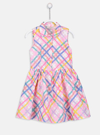 Printed - Multi - Girls` Dress