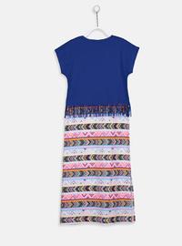 Printed - Multi - Girls` Dress