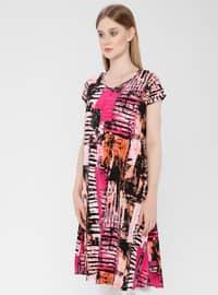 Fuchsia - Cotton - Loungewear Dresses