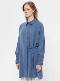 Blue - Indigo - Point Collar - Tunic
