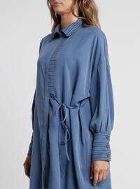 Blue - Indigo - Point Collar - Tunic