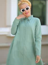Mint - Point Collar - Cotton - Tunic