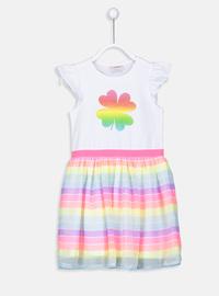 Stripe - Multi - Girls` Dress