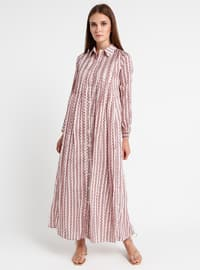 Dusty Rose - Multi - Point Collar - Fully Lined - Dress
