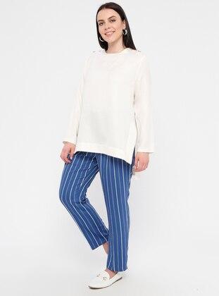 Indigo - Stripe - Plus Size Pants