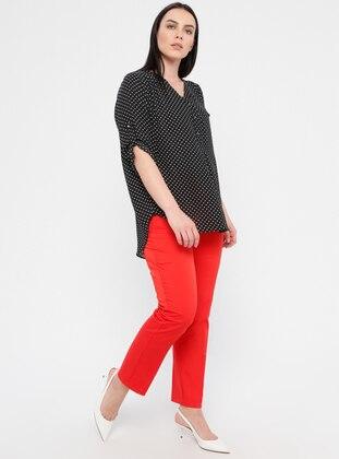 Coral - Cotton - Plus Size Pants