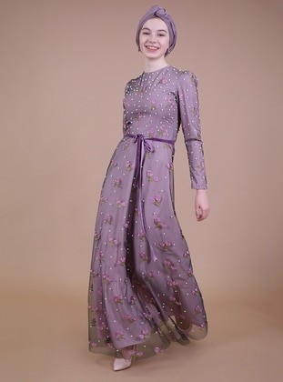 Pink - Fully Lined - Muslim Evening Dress