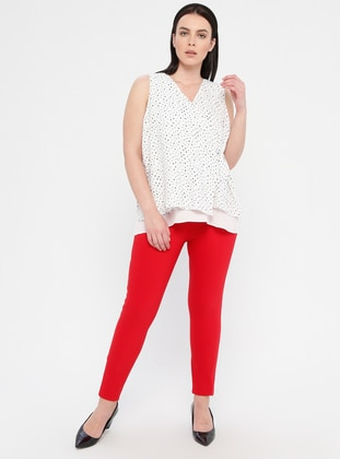 Red - Plus Size Pants