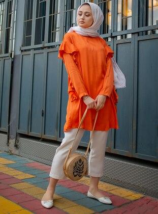 Orange - Viscose - Tunic