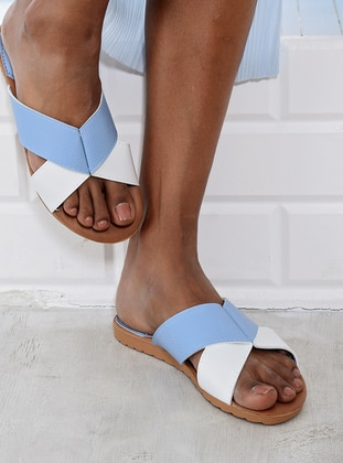 Blue - White - Sandal - Slippers - Y-London