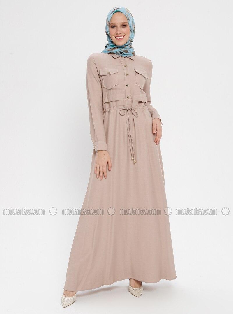 Mink - Point Collar - Unlined - Dress