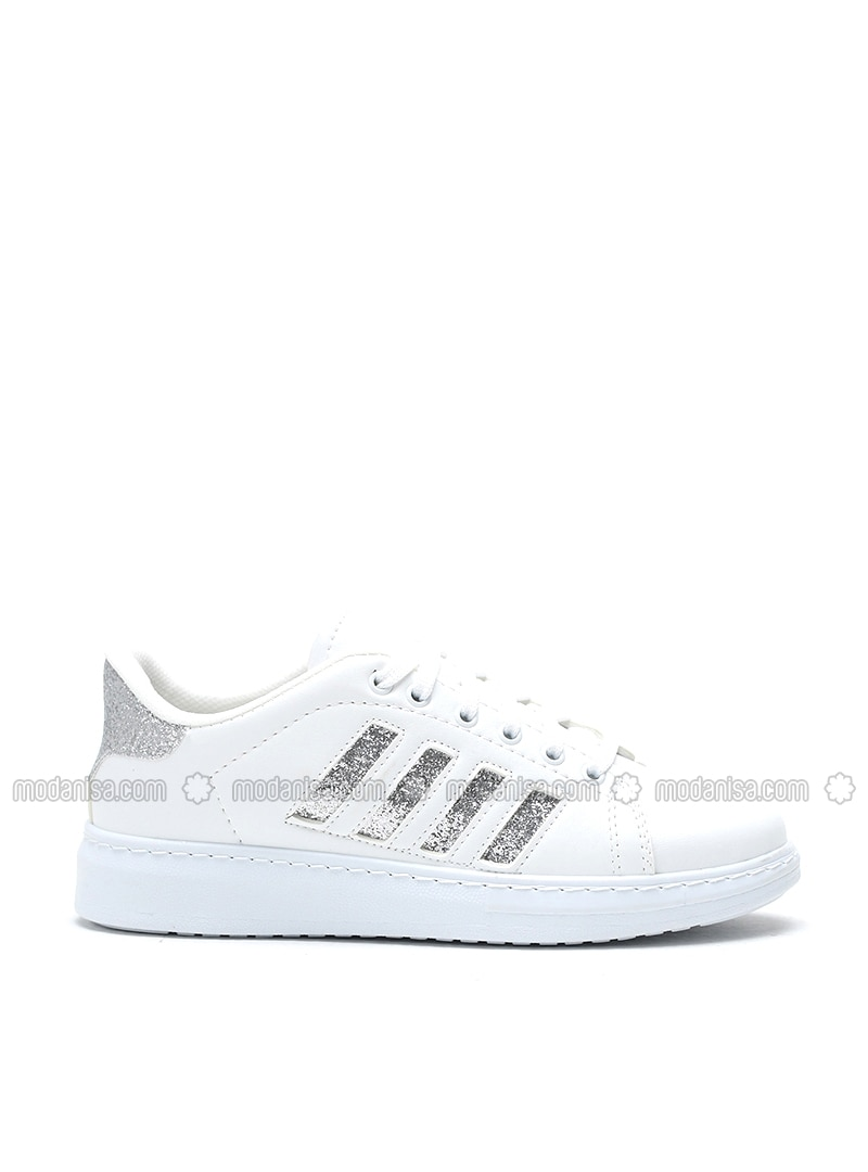 White - Silver tone - Casual - Shoes - Y-London