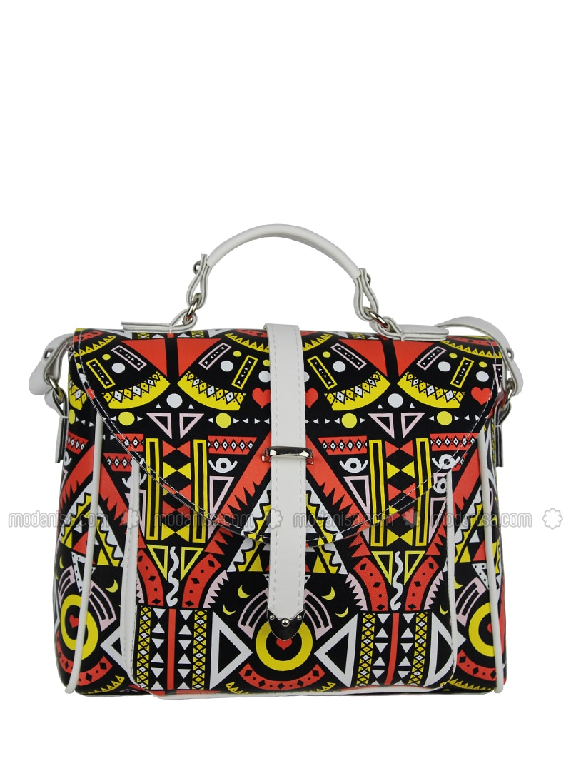 White - Yellow - Shoulder Bags