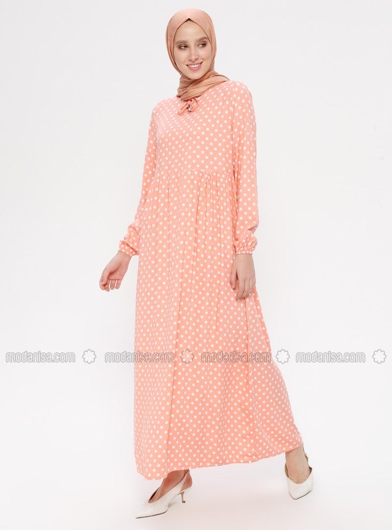 Powder - Polka Dot - Crew neck - Unlined - Viscose - Dress