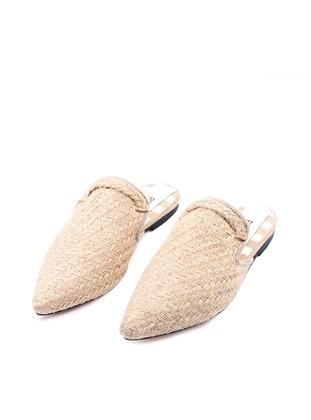 Handmade Beige - Sandal - Slippers
