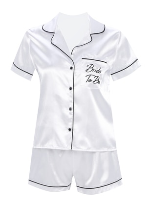 White - V neck Collar - Pyjama