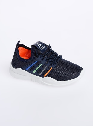Navy Blue - Sport - Boys` Shoes - Gezer