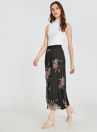 Printed - Black - Skirt