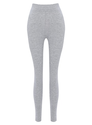 Gray - Cotton - Legging
