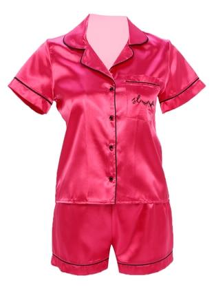 Fuchsia - V neck Collar - Pyjama
